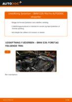Udskift fjederben for - BMW E39   Brugeranvisning