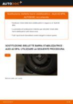 Come cambiare è regolare Tiranti barra stabilizzatrice AUDI A3: pdf tutorial