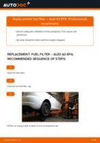Replacing Brake wear sensor AUDI A3: free pdf