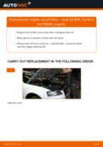 PDF replacement tutorial: Oil filter AUDI A3 Sportback (8PA)