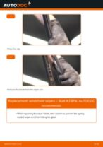 How to replace and adjust Windscreen wipers AUDI A3: pdf tutorial