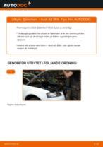 Hur byter man och justera Fjäderben AUDI A3: pdf instruktioner