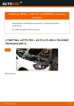 Slik bytter du luftfilter på en VW Polo 5 – veiledning