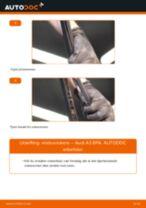 Slik bytter du vindusviskere bak på en Audi A3 8PA – veiledning