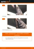 Kuinka vaihtaa pyyhkijänsulat taakse Audi A3 8PA-autoon – vaihto-ohje