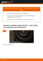 Montaż Łącznik stabilizatora AUDI A3 Sportback (8PA) - przewodnik krok po kroku