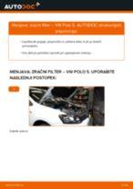 Kako zamenjati avtodel zračni filter na avtu VW Polo 5 – vodnik menjave