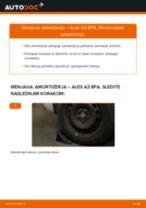 Brezplačna spletna navodila kako obnoviti Blažilnik AUDI A3 Sportback (8PA)