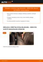 Menjava zadaj in spredaj Blažilnik BMW naredi sam - navodila pdf na spletu