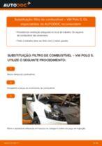 Como mudar filtro de combustível em VW Polo 5 - guia de substituição