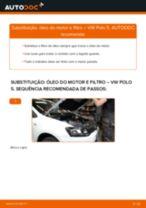 Como mudar óleo do motor e filtro em VW Polo 5 - guia de substituição