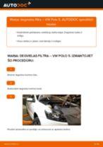 Kā nomainīt: degvielas filtru VW Polo 5 - nomaiņas ceļvedis