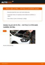 Kā nomainīt: eļļas un filtru VW Polo 5 - nomaiņas ceļvedis