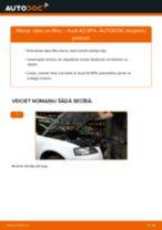 AUDI Eļļas filtrs nomaiņa dari-to-pats - tiešsaistes instrukcijas pdf