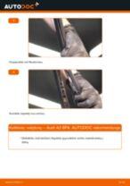 Kaip pakeisti Audi A3 8PA valytuvų: galas - keitimo instrukcija