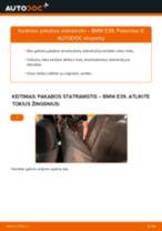 Kaip pakeisti BMW E39 pakabos statramstis: galas - keitimo instrukcija