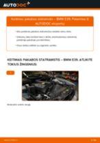 Kaip pakeisti BMW E39 pakabos statramstis: priekis - keitimo instrukcija