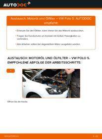 Wie der Wechsel durchführt wird: Ölfilter 1.6 TDI VW Polo 5 Limousine tauschen