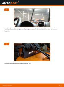 Wie der Wechsel durchführt wird: Scheibenwischer 2.0 TDI 16V Audi A3 8P tauschen