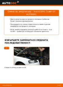 Как се извършва смяна на: Амортисьор на 2.0 TDI 16V Audi A3 8pa