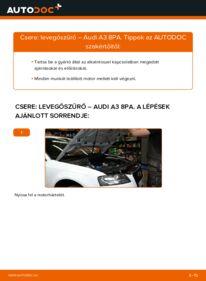 Hogyan végezze a cserét: AUDI A3 Levegőszűrő