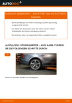 Wie Federbein AUDI A4 wechseln und einstellen: PDF-Leitfaden