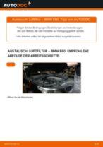 Wie BMW E60 Luftfilter wechseln - Anleitung