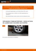 SKODA OCTAVIA achter rechts Torsiestang vervangen: online instructies