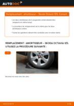 Comment changer : amortisseur arrière sur Skoda Octavia 1Z5 - Guide de remplacement