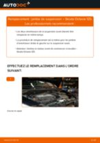 Comment changer : jambe de suspension avant sur Skoda Octavia 1Z5 - Guide de remplacement