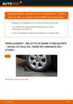 Comment changer : biellette de barre stabilisatrice arrière sur Skoda Octavia 1Z5 - Guide de remplacement