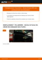 Comment changer : feu arrière sur Skoda Octavia 1Z5 - Guide de remplacement
