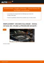 Comment changer : bougies d'allumage sur Skoda Octavia 1Z5 - Guide de remplacement