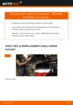 Comment changer Jambe de force arrière + avant BMW 5 (E60) - manuel en ligne