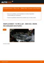 Tutoriel PDF étape par étape sur le changement de Filtre à Air sur BMW 5 (E60)