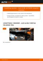 Udskift tændrør - Audi A4 B8   Brugeranvisning