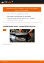 Udskift motorolie og filter - Audi A4 B8   Brugeranvisning