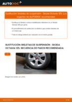 Reemplazar Cable de accionamiento freno de estacionamiento SKODA OCTAVIA: pdf gratis
