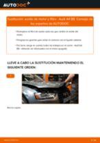 Sustitución de Filtro de aceite motor en AUDI A4 (8K2, B8) - consejos y trucos