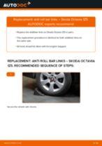 PDF replacement tutorial: Sway bar links SKODA Octavia II Combi (1Z5) rear and front