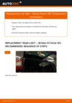PDF replacement tutorial: Rear lights SKODA Octavia II Combi (1Z5) left and right