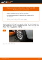 PDF replacement tutorial: Sway bar links FIAT GRANDE PUNTO (199) rear and front