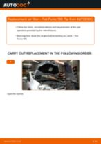 Changing Air Filter FIAT GRANDE PUNTO: workshop manual