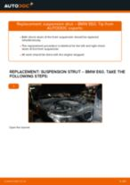 Replacing Bracket, stabilizer mounting: pdf instruction for BMW 5 SERIES