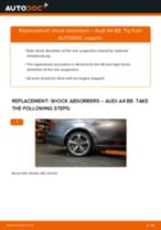 How to replace and adjust Shock absorbers AUDI A4: pdf tutorial