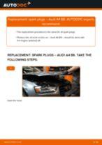 Сhanging Spark Plug on AUDI A4: online tutorial