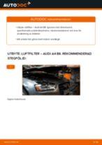 Byta luftfilter på Audi A4 B8 – utbytesguide