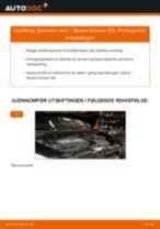 Hvordan bytte og justere Lyspære hovedlyskaster SKODA OCTAVIA: pdf håndbøker