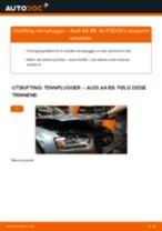 Montering Tennplugg AUDI A4 (8K2, B8) - steg-for-steg manualer