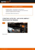 Slik bytter du luftfilter på en Audi A4 B8 – veiledning